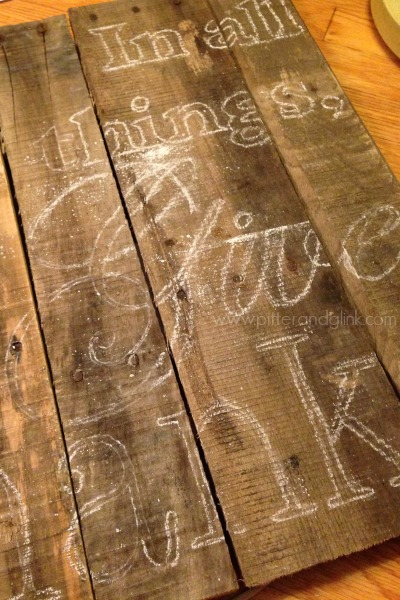 Transfer a Large Image to a Pallet Using Chalk www.pitterandglink.com