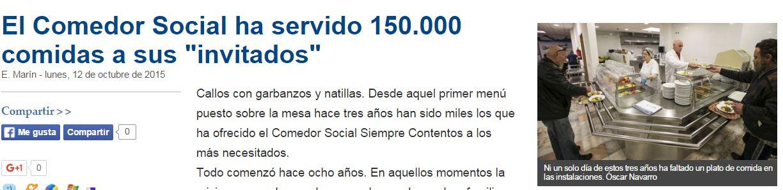 Mi primer a o en red xxi bring your own news 3 noticia for Proyecto comedor social