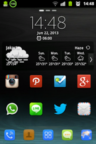Digital Clock Xperia : graphical widget library hours style Xperia
