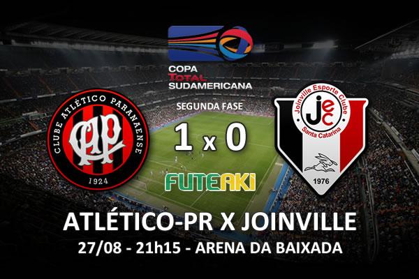 Veja o resumo da partida com o gol e os melhores momentos de Atlético-PR 1x0 Joinville pela partida de volta da segunda fase da Copa Sul-Americana 2015.