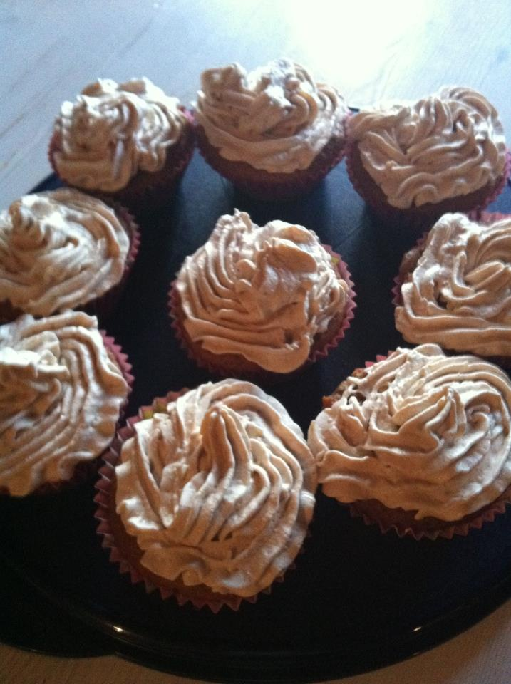 chokladmuffins med topping
