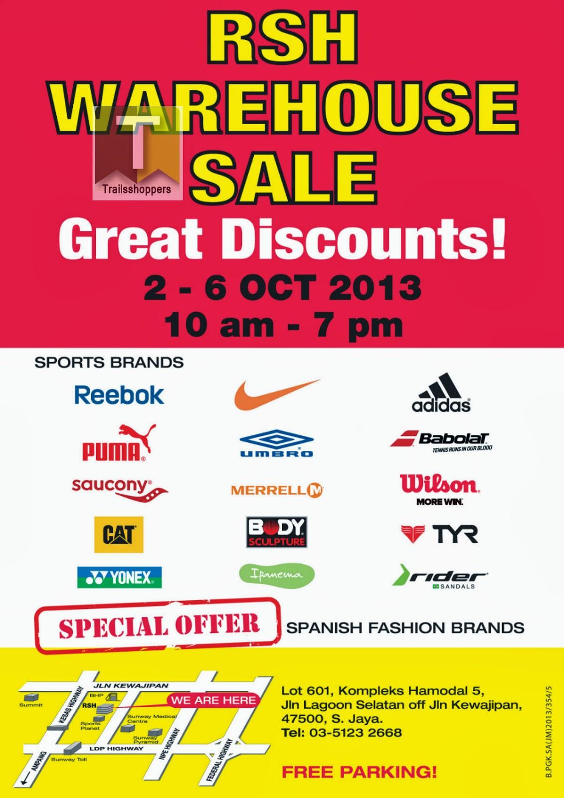RSH Warehouse Sale 2013