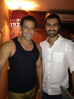 Salman Khan with Ashmit patel brother of amisha patel