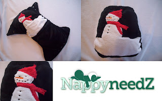 Snowman one of a kind pocket nappy
