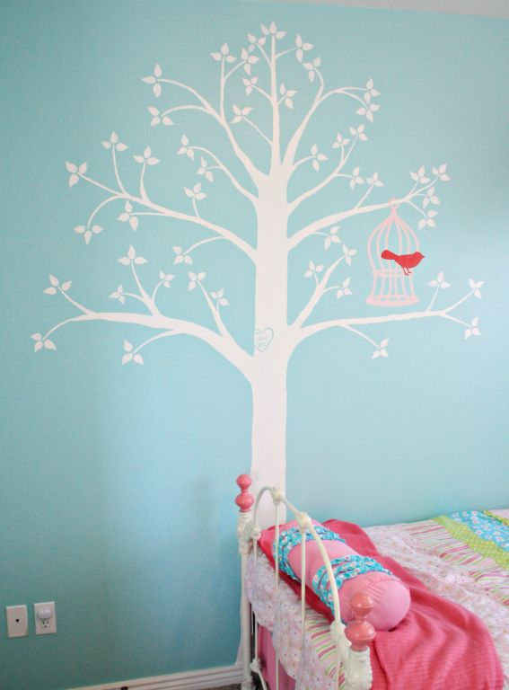 Just what i squeeze in how to paint a tree mural How to paint murals on bedroom walls