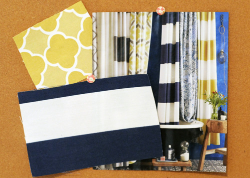 navy blue stripes, decorating