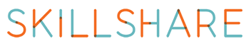 skilshare logo in brown and blue