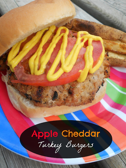 Ally's Sweet and Savory Eats: Apple Cheddar Turkey Burgers