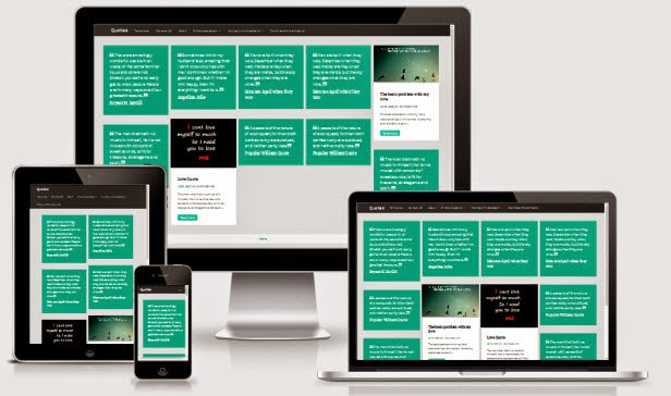 Quotes Responsive Masonry Blogger Template