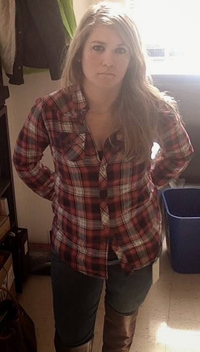 #H&M-plaid-shirt-Mother-looker-jeans-Arturo-Chiang-boots