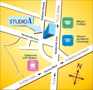 Studio A Katipunan Location Map