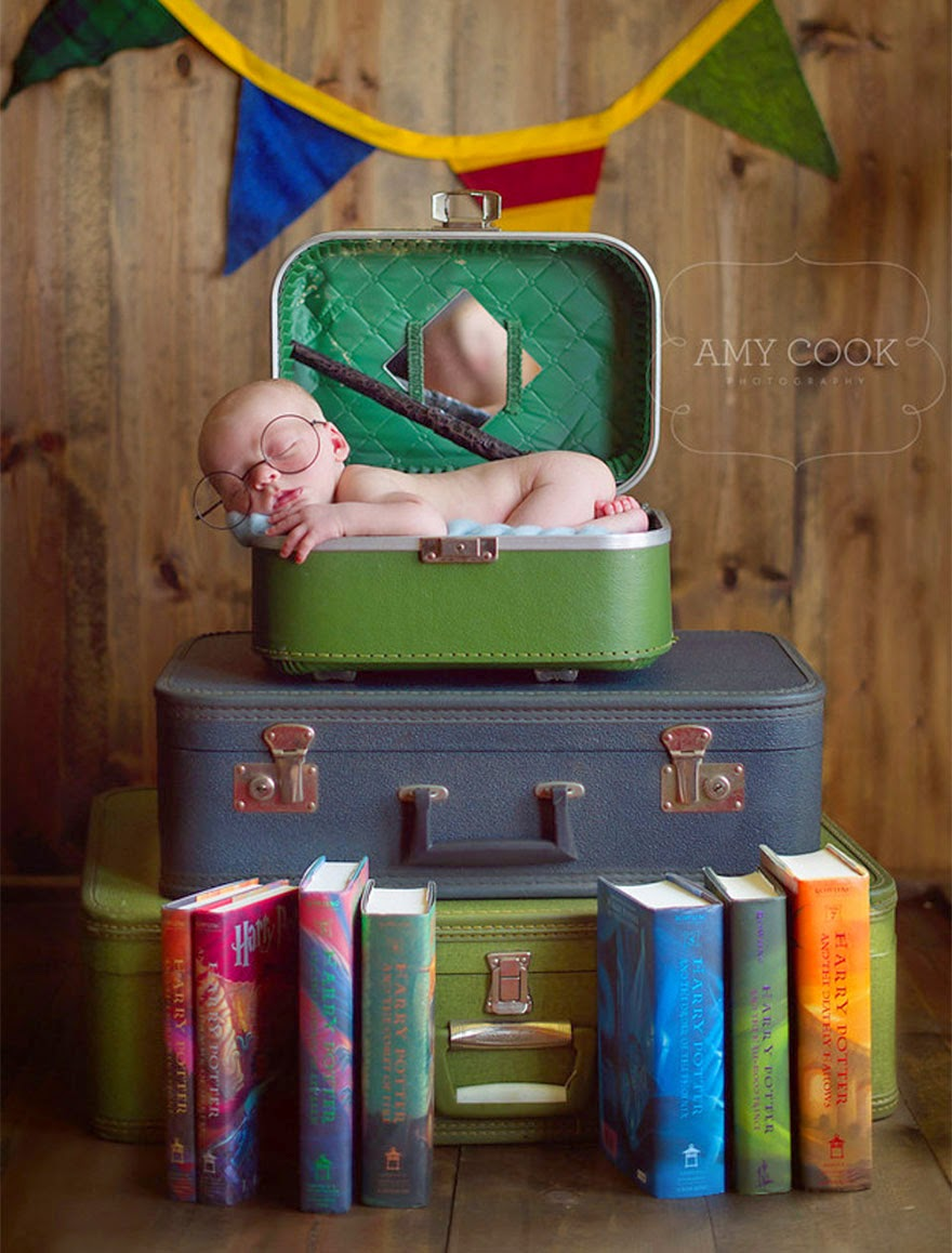 #6 Baby Harry Potter - 22 Geeky Newborns Who Are Following In Their Parents' Nerdy Footsteps