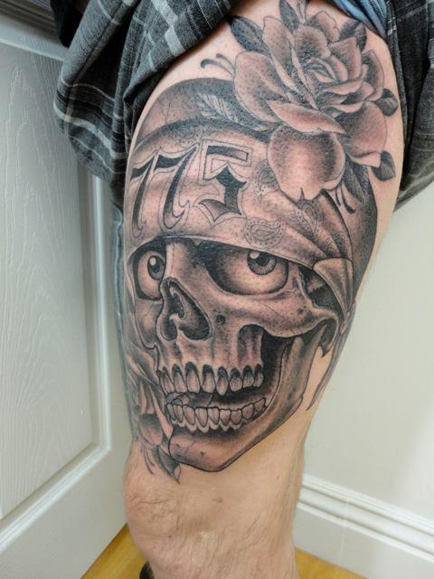 Dali skull tattoo made from a few women bodys. Arm skull tattoos and ...