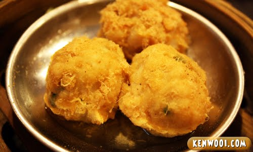 ipoh dim sum meat ball chicken floss