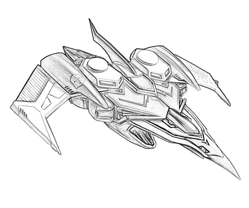 Transformers fall of cybertron swoop transformer surfing for Starscream coloring page