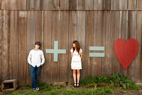 You do the math. Brilliant photo found via Perfectly Practical Bride .