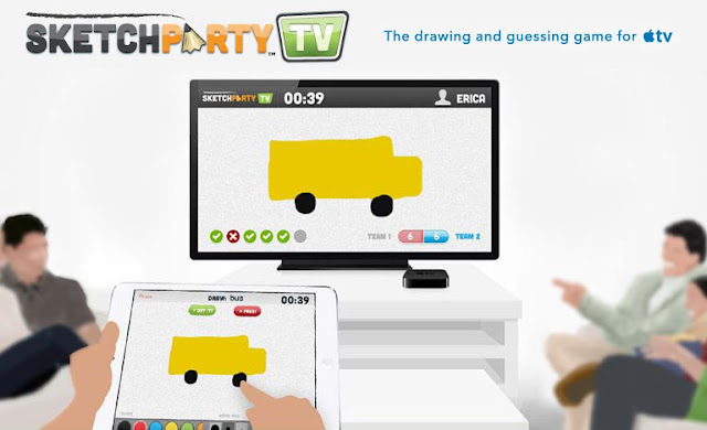 Use SketchParty TV na sua Apple TV