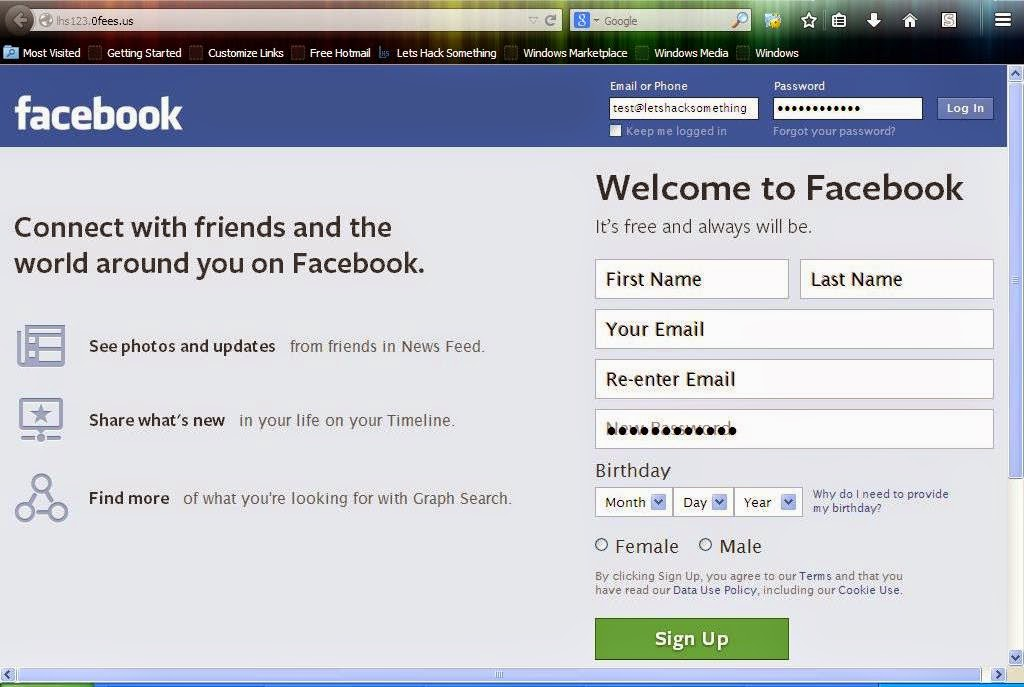 how to hack facebook using phishing