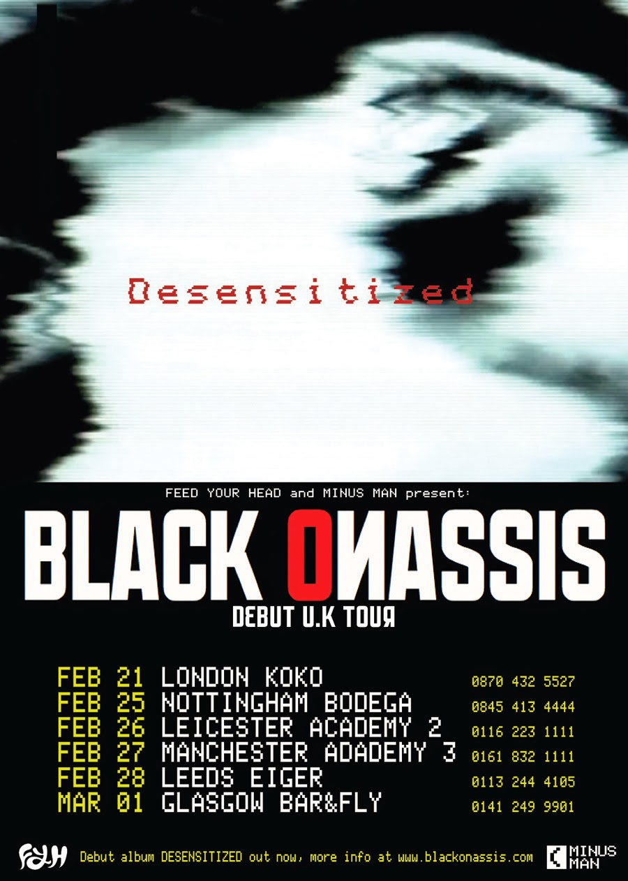 Black Onassis Announce UK Tour 2014