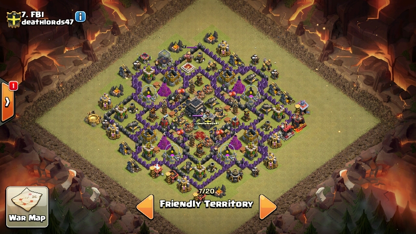 Super strong townhall 9 warbase layout anti 3 star layout coc