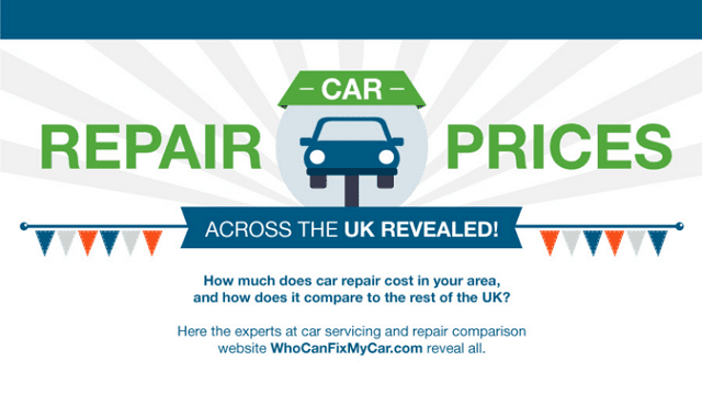 Car Repair Prices Across The UK Revealed