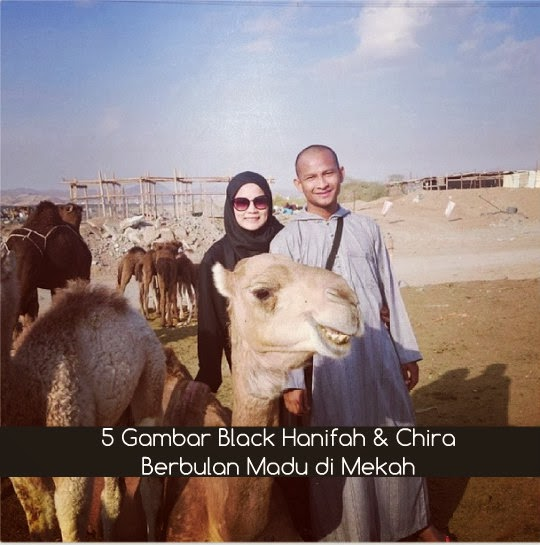 5 Gambar Black Hanifah & Chira Berbulan Madu di Mekah