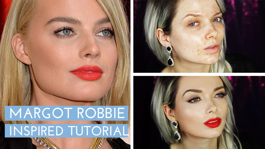 margot robbie,oscars,2015, make up, tutorial, margot, robbie,wolf of wall street, pale skin, my pale skin, acne, acne coverage, tutorial, bourjois, hot pepper, red lipstick, red lips, make up tutorial, blogger, review, pale