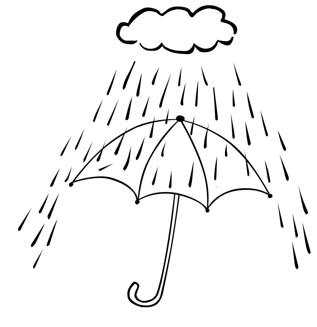 Free Coloring Pages Of Rainy Day Scene