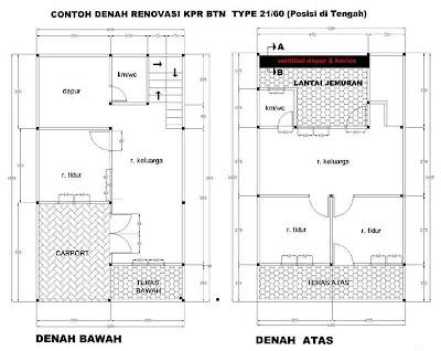 Gambar Denah Rumah Sederhana KPR -01