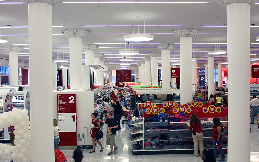 While Much Of The Target Installation Includes High Shelving, Threatening  To Turn The Space Into A Series Of Warrens, The 20 Foot Columns And  Completely ...