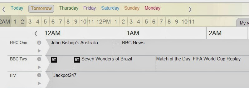 World Cup TV listing, the Scottish Football Blog