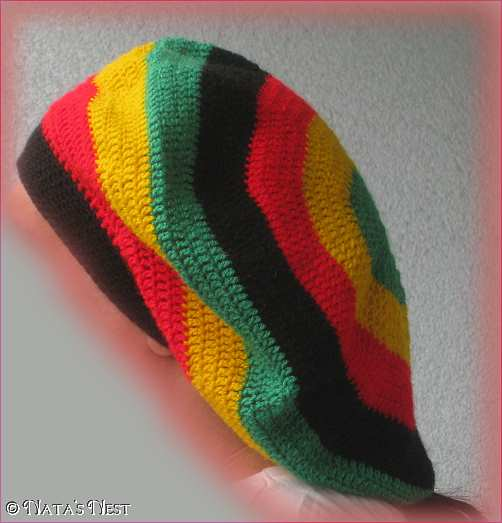 Crochet Rastafarian Slouchy Hat Pattern myideasbedroom.com