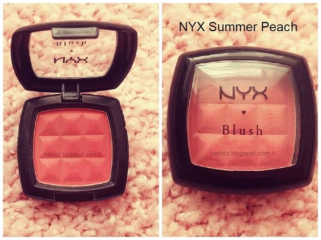 nyx summer peach allık hazioz