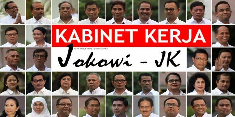 Daftar Nama-Nama Kabinet Kerja Jokowi Periode 2014 - 2019