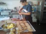 Katie making cakes
