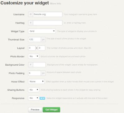 Blogger İnstagram Ekleme, widget