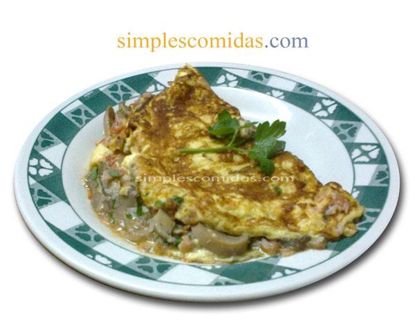 Omelette de Champignones y Jamon
