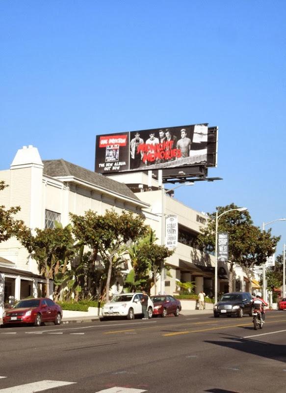One Direction Midnight Memories billboard Sunset Strip