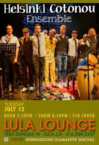 Helsinki Cotonou Ensemble @ Lula Lounge, July 12