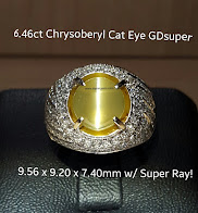 6,46ct Alexandrite Chrysoberyl Cat Eye
