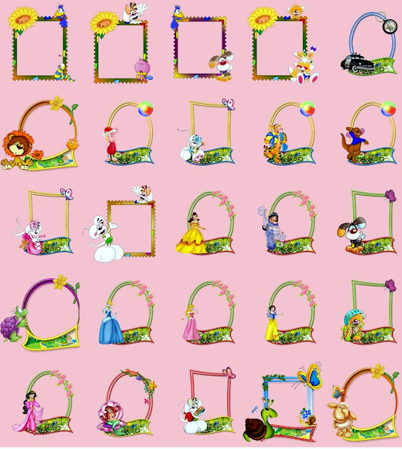Nova coleção de molduras infantil variadas