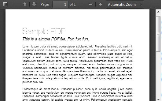 Embeds PDF files into HTML documents