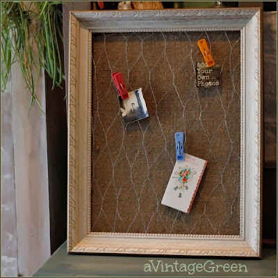 chicken wire and burlap holder
