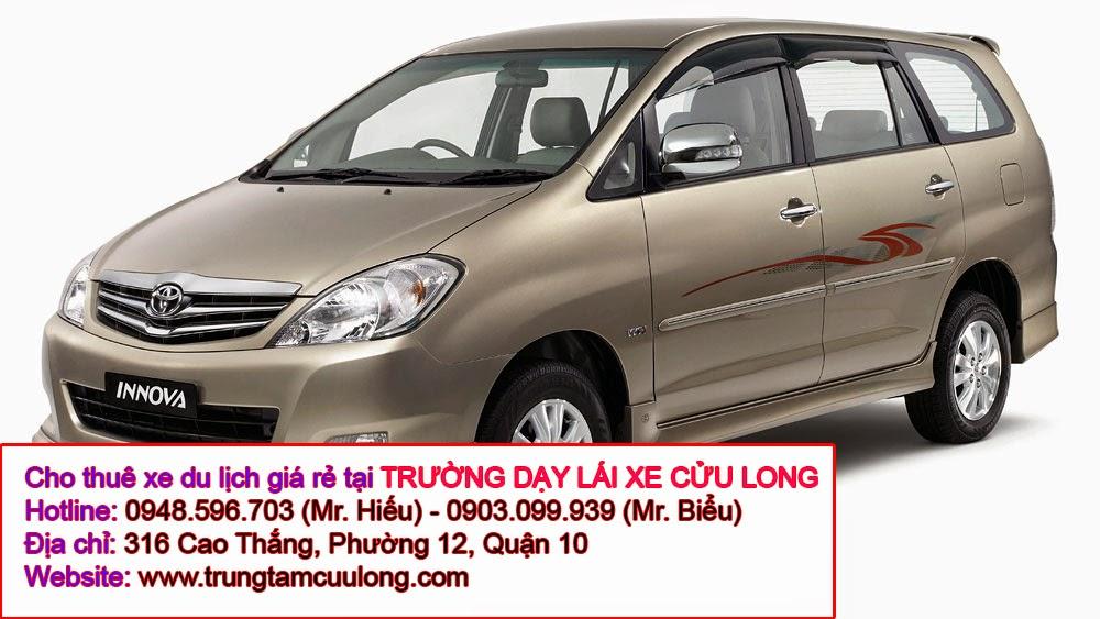 Cho thuê xe du lịch 7 chỗ giá rẻ tại TPHCM