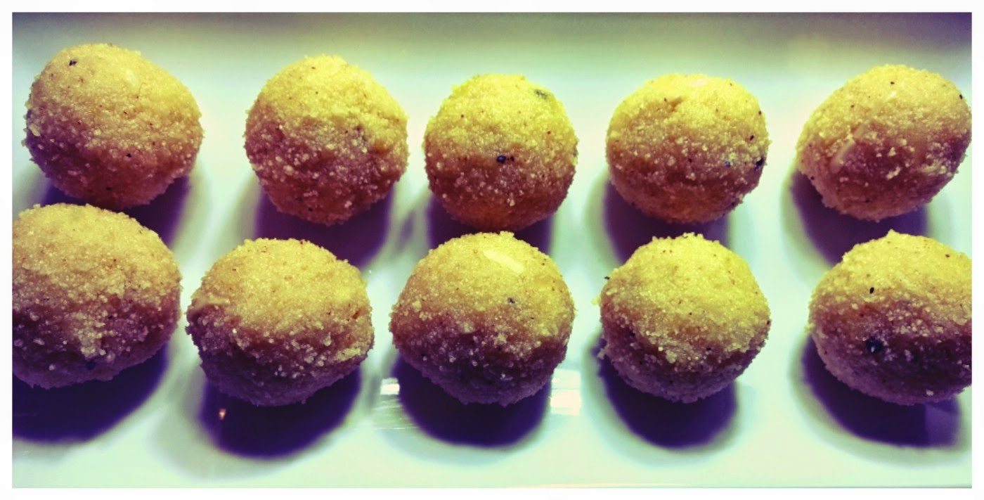 How to make Rawa Ladoo, How to make Rava Laddoo