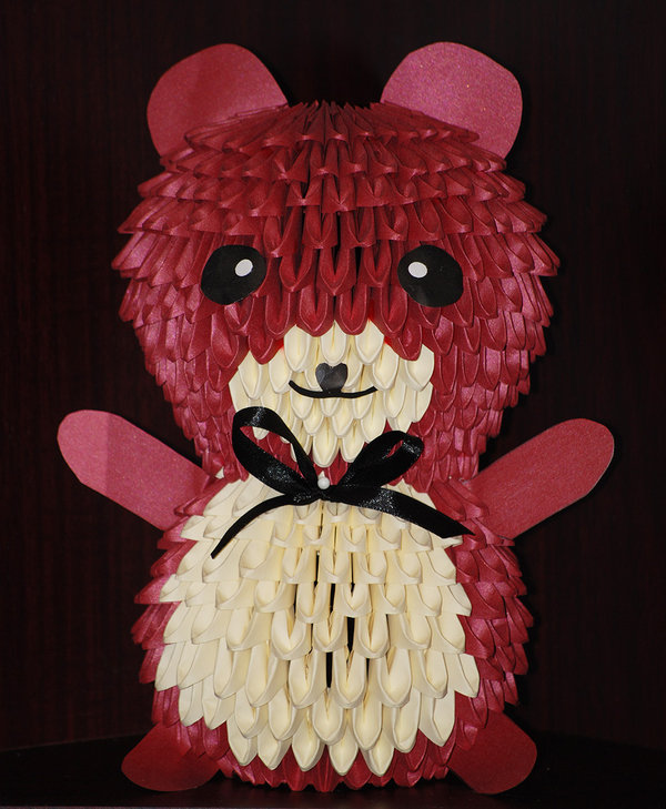 papercraft 3d origami teddy