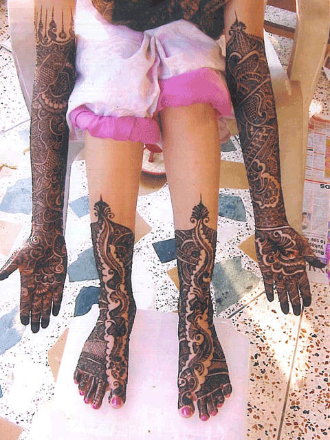 Full Leg Mehndi : Dulhan mehndi designs for feet desings