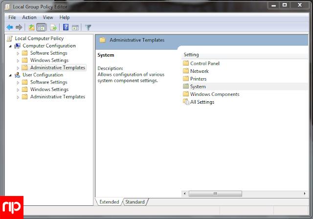 Memblokir  USB pada Windows dengan GPedit.msc