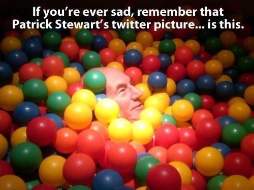 Patrick Stewart's Twitter Picture