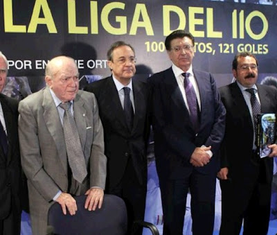 Florentino Perez in the resentation of the book La liga del 110
